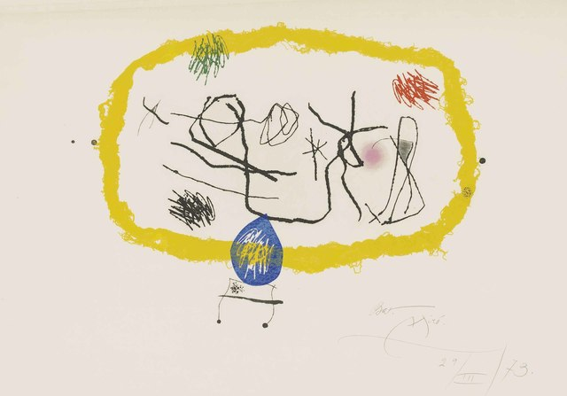 Joan Miró, 'Personatges Solars', 1973, Christie's