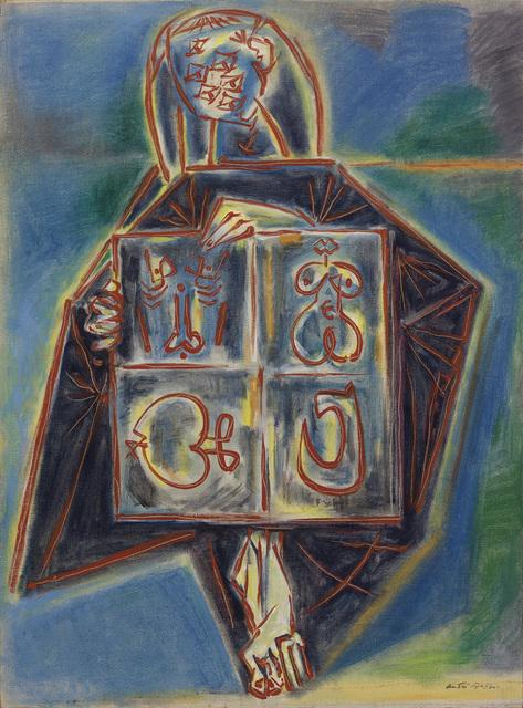 , 'Enfant présentant un livre d'images (Diego) ,' 1944, Applicat-Prazan