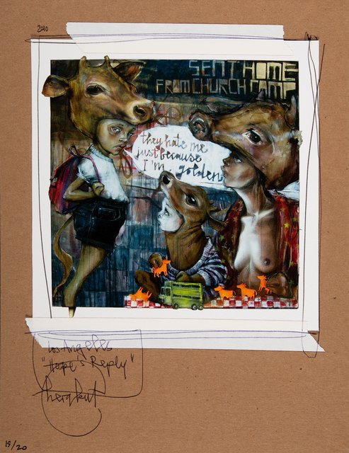Herakut, 'Untitled, from Hope's Reply', 2010, Mixed Media, Mixed media on card, Heritage Auctions