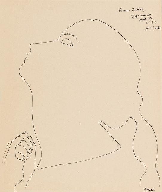 , 'Portrait of a Dancer (Carmen Gutherrey),' 1954, Galerie Crone