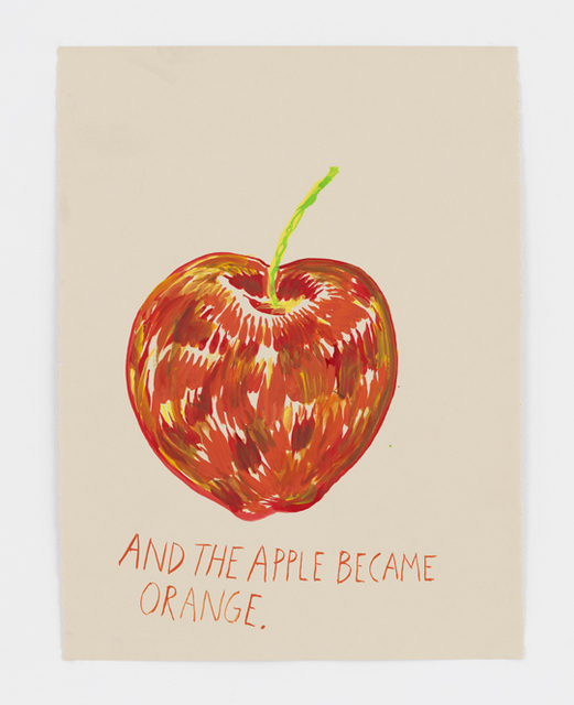 , 'No Title (And the apple...),' 2017, David Zwirner