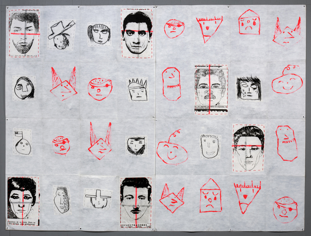 , 'The 9th History of the Human Face (Hierba Menuda), Airmail Painting No. 82,' 1990, Alexander and Bonin