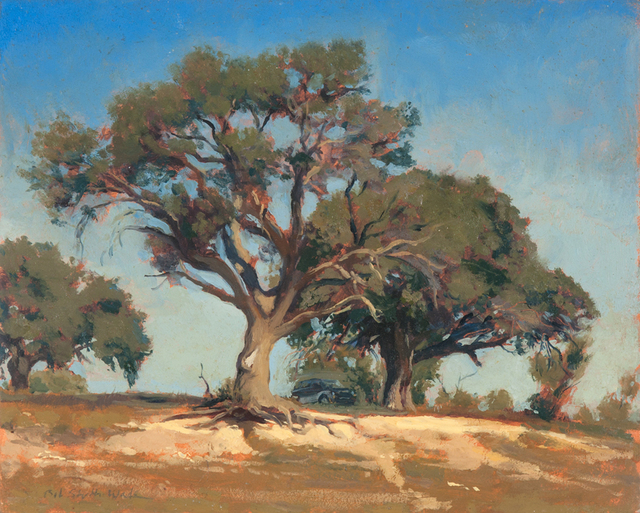 Bob Stuth-Wade, 'Trees and Jeep at Lake Proctor', 2017, Valley House Gallery & Sculpture Garden