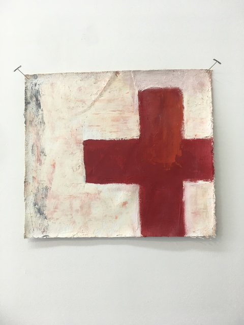 , 'Form (red cross),' 2012, Amos Eno Gallery