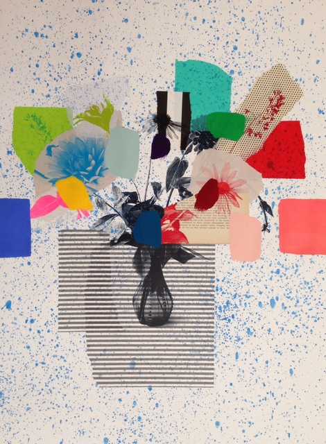 , 'Paper bouquet (blue platter & stripes),' 2017, Rebecca Hossack Art Gallery