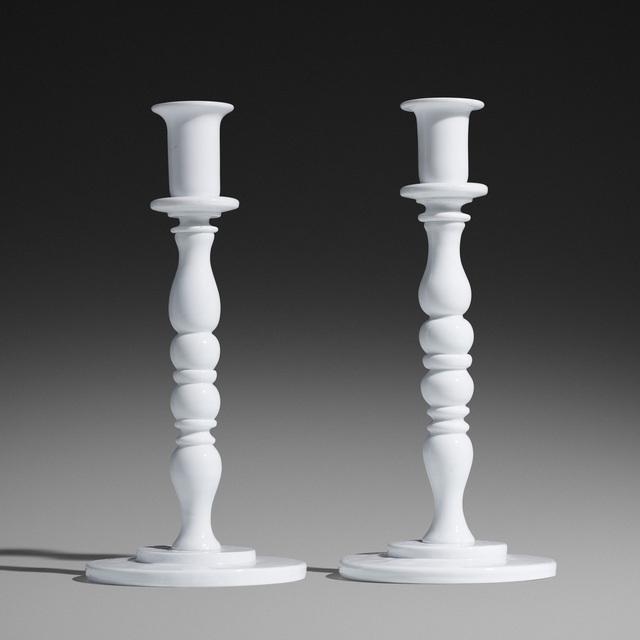 Fulvio Bianconi, 'Rare candlesticks model 2745, pair', c. 1952, Wright