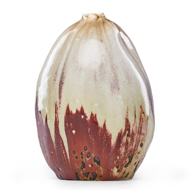 Pierre Adrien Dalpayrat, 'Oxblood And Celadon Gourd Vase, France', 1890s, Rago/Wright
