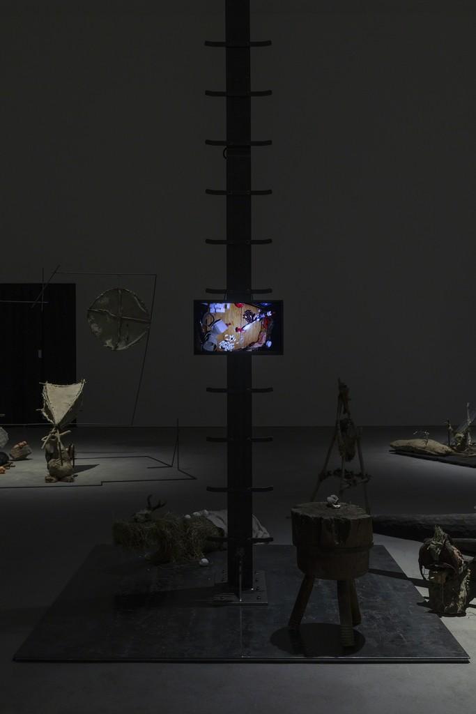 Installation view, John Bock, Sprüth Magers Berlin, November 24, 2018 - January 19, 2019; Photography: Timo Ohler