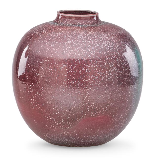 Cliff Lee, 'Large vase, oxblood and turquoise glaze, Stevens, PA', 1988, Rago