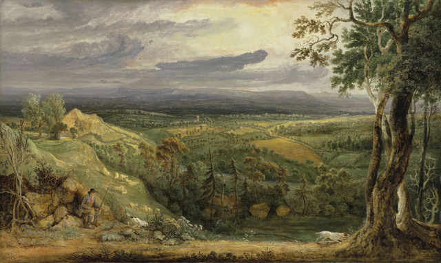 , 'A View in Somersetshire from Fitzhead, the Seat of Lord Somerville,' 1805, DICKINSON