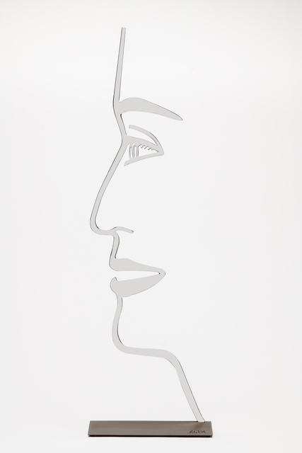 Alex Katz, 'Ada (1) Outline', 2018, Sculpture, Polished aluminum mounted to bronze base, William Campbell Contemporary Art Inc