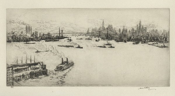 James McBey, 'Manhattan', 1939, Print, Etching, Childs Gallery