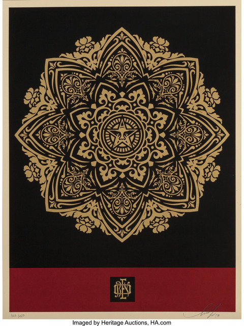 Shepard Fairey (OBEY), 'Mandala Ornament (Red and Gold)', 2010, Heritage Auctions