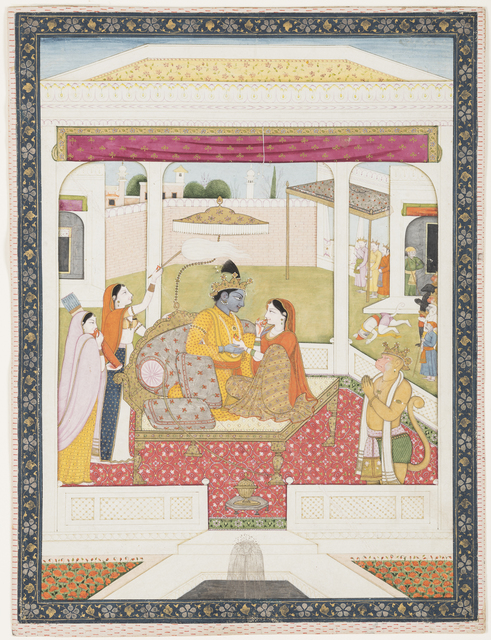 , 'Rama and Sita enthroned,' ca. 1800, Princeton University Art Museum