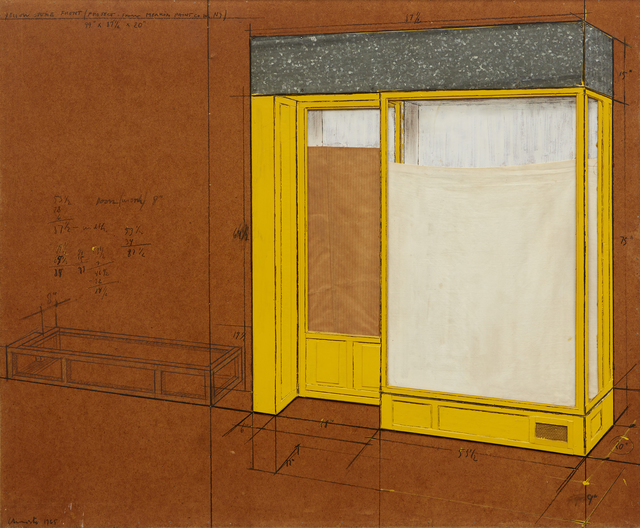 , 'Yellow Store Front (Project From Merkin Paint Co., Inc. NY),' 1965, Omer Tiroche Gallery