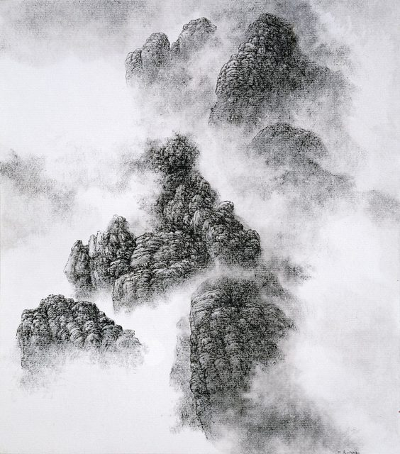 , 'Mountains Peaking through the Fog,' , M. Sutherland Fine Arts