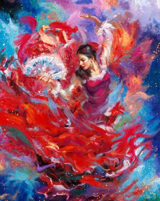 , 'Flamenco - Original Painting,' 2017, Newport Brushstrokes Fine Art