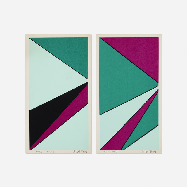 Olle Baertling, 'Untitled (two works from The Angles of Baertling - Open Form, Infinite Space portfolio)', 1966-68, Print, Lithograph on paper, Rago/Wright