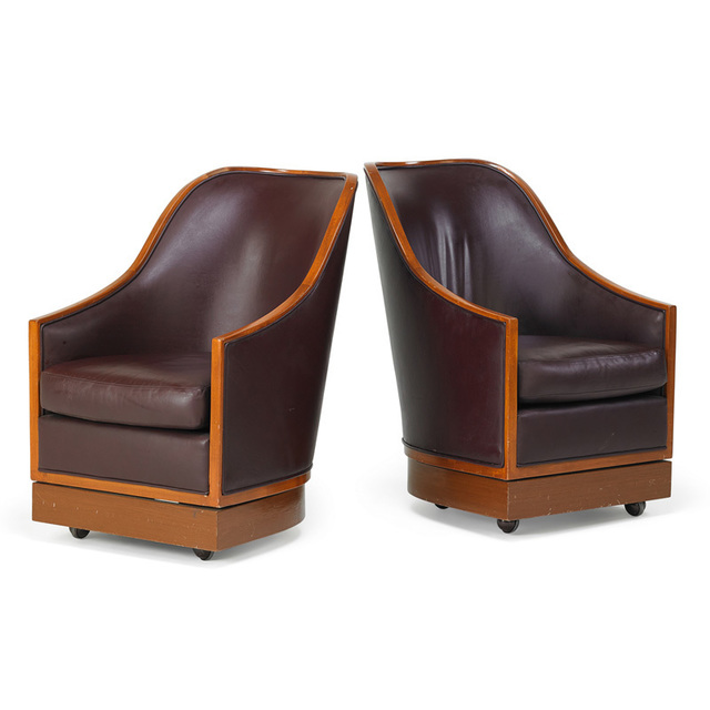 I.M. Pei, 'Pair of lounge swivel chairs from the Four Seasons Hotel, New York', 1994, Rago/Wright