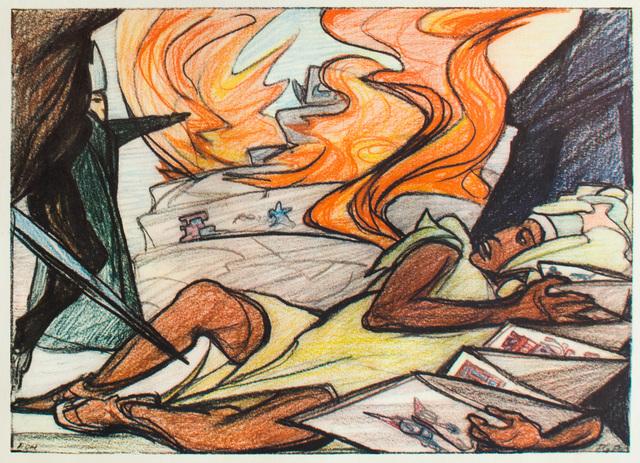 Pablo O'Higgins, 'La Destrucción del México Antiguo', 1960, Print, Offset lithograph, Hecho a Mano