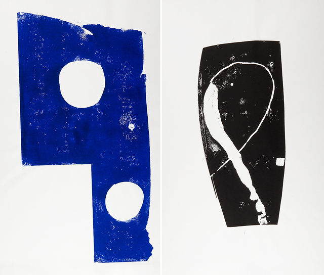 Norbert Prangenberg, 'Untitled', 1985, Print, Two screenprints in colors, Rago/Wright