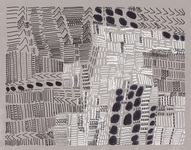 Hung Kei Shiu, 'Untitled', 2011, Drawing, Collage or other Work on Paper, Marker and paint pen on paper, Creativity Explored
