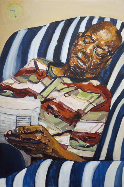 Beverly McIver, 'Dad Reading the Obituaries', 2018, C. Grimaldis Gallery