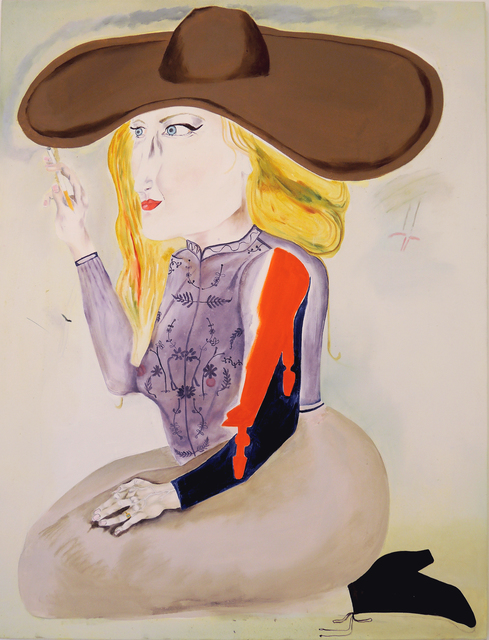 , 'Woman With Brown Hat,' 2016, Galerie Sébastien Bertrand