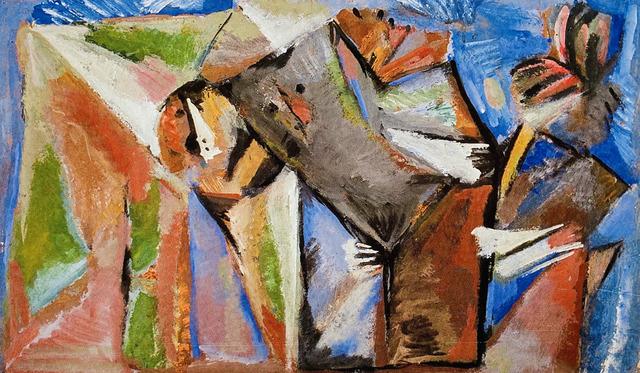 Marlen Spindler, 'Fantastic Brother', 1986, Painting, Tempera on cardboard, Nadja Brykina Gallery
