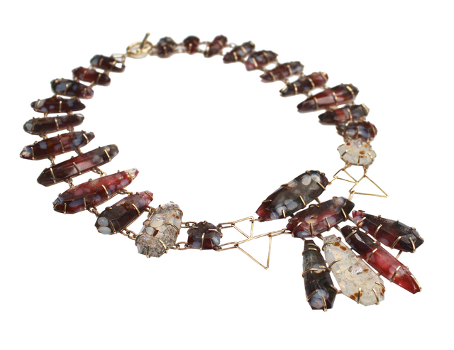 , 'Meta Spotted Quartz Necklace,' , Bullseye Projects