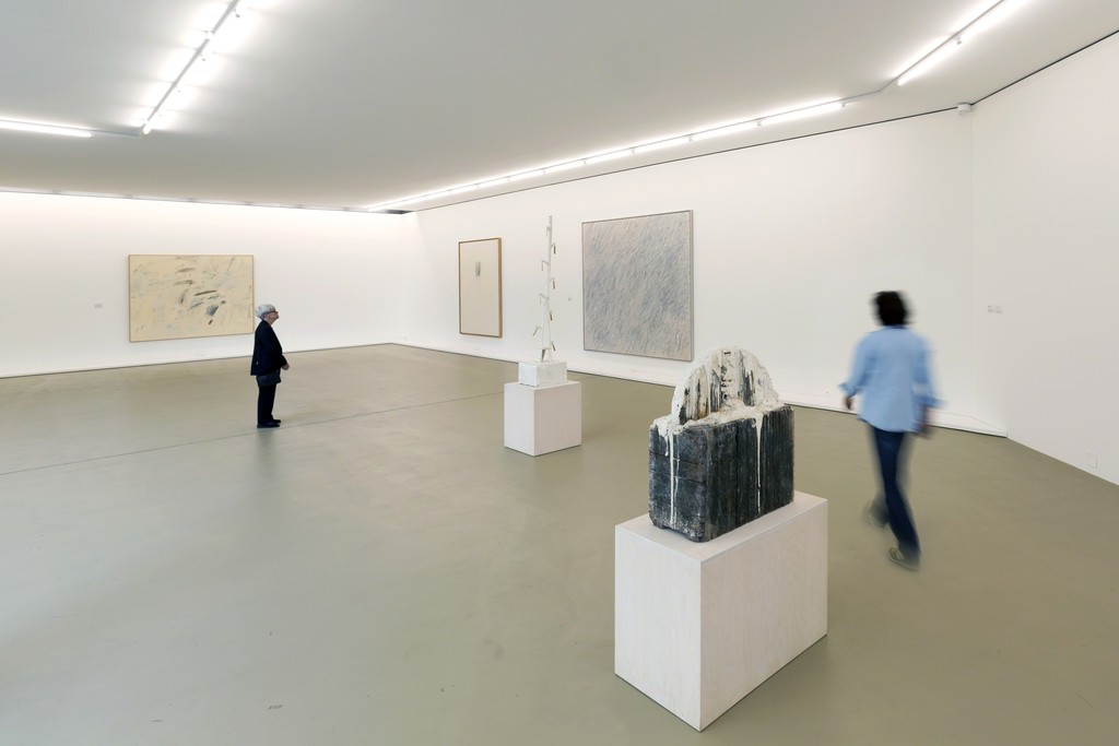 "Installation view of ""Cy Twombly – Painting & Sculpture"" at Kunstmuseum Basel. Photo credit: Kunstmuseum Basel, Julian Salinas"