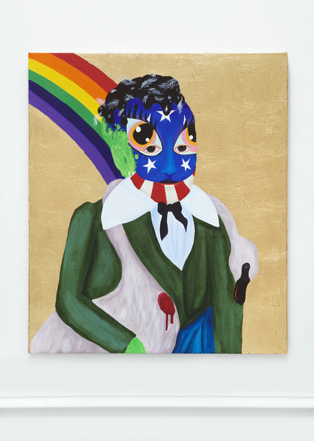 , 'PARSIFAL (TAR AND FEATHER BETSY ROSS FACE PAINT),' 2019, Stems Gallery