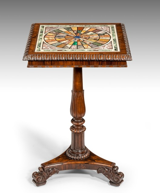 , 'George IV Rosewood Table with Italian Specimen Marble Top,' ca. 1820, Thomas Coulborn & Sons