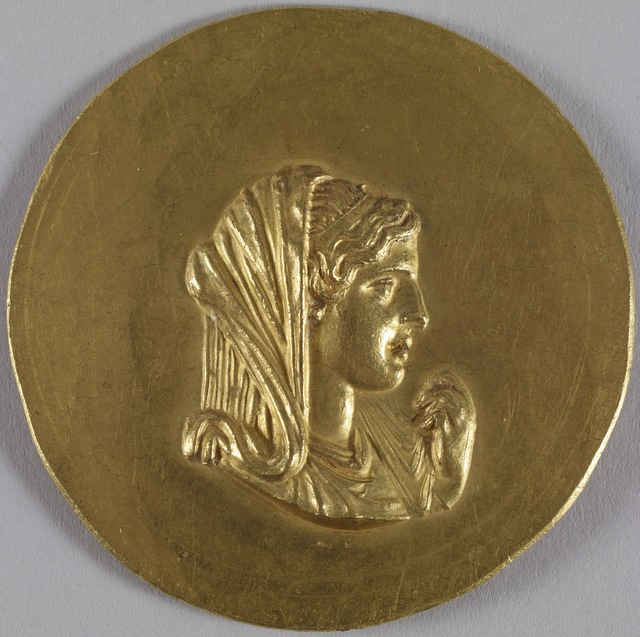 'Medallion with Olympias', ca. 215-243, Walters Art Museum