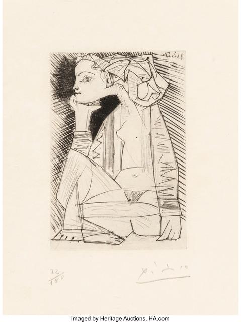 Pablo Picasso, 'Femme Assise en Tailleur: Geneviève Laporte', 1969, Heritage Auctions