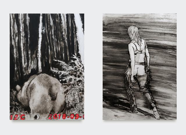 Sara-Vide Ericson, 'Ursula', 2018, Painting, Oil on aluminum (diptych), V1 Gallery