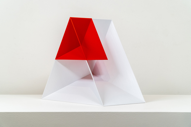 , 'Nested Wedge (Red and White),' 2019, Upfor