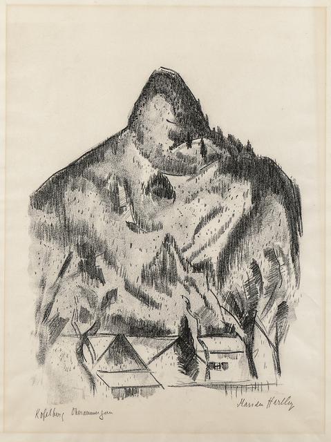 Marsden Hartley, 'Kopelberg-Oberammergau', 1934, Print, Lithograph on Rives paper with watermark, Skinner