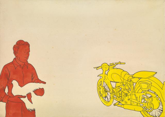 Renato Mambor, 'Airone ferito', 1966, Painting, 1966, Tornabuoni Art
