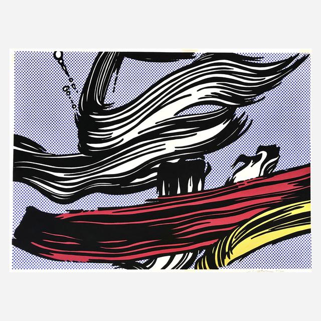 Roy Lichtenstein, 'Brushstrokes', 1967, Print, Screenprint in colors, on off-white wove paper, Artsy x Rago/Wright