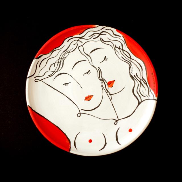 , 'Red couple 4,' 2019, Antonine Catzéflis