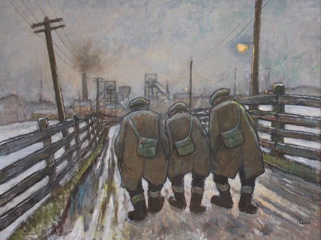 Norman Cornish, 'Three miners going on night shift', Castlegate House Gallery