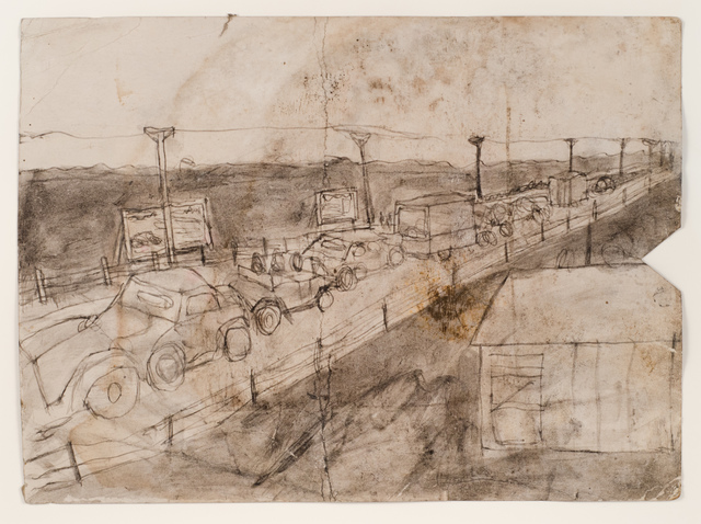 , 'Untitled (Highway with cars and trucks),' n.d., Fleisher/Ollman