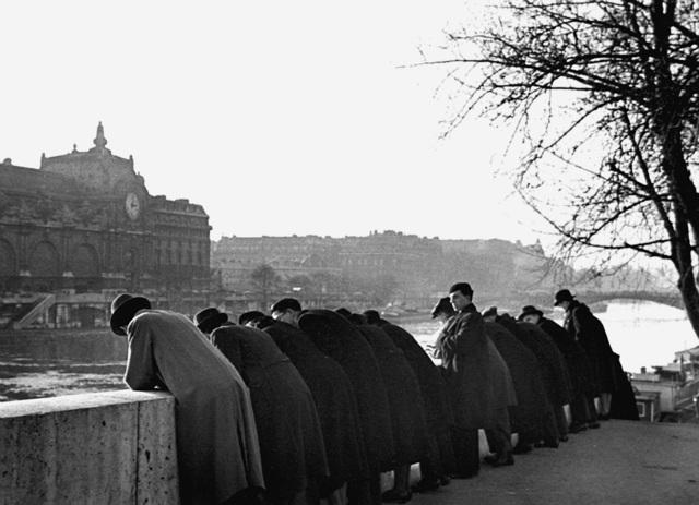 Fred Stein, 'Leaning Over Railing, Paris', 1938, Rosenberg & Co.
