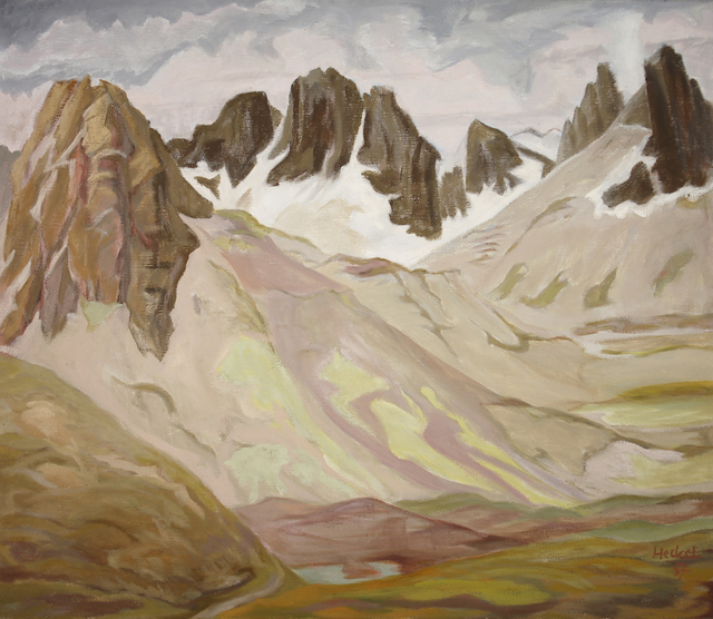 , 'Berghänge (Berghänge bei Corviglia),' 1957, Henze & Ketterer