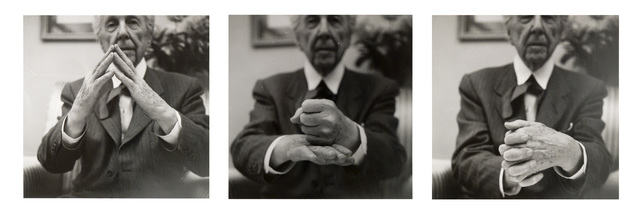 Pedro E. Guerrero, 'Frank Lloyd Wright, Demonstrating Organic Architecture, Suite of Three Prints (#11, #2, #8)', 1953, Photography, Silver gelatin print, Edward Cella Art and Architecture