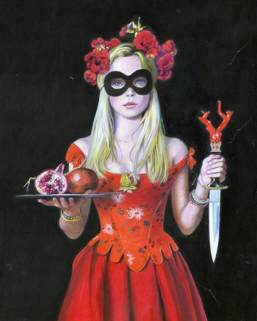 Titti Garelli, 'The Legend of Pomegranate', 2019, Painting, Acrylic on canvas, Saphira & Ventura Gallery