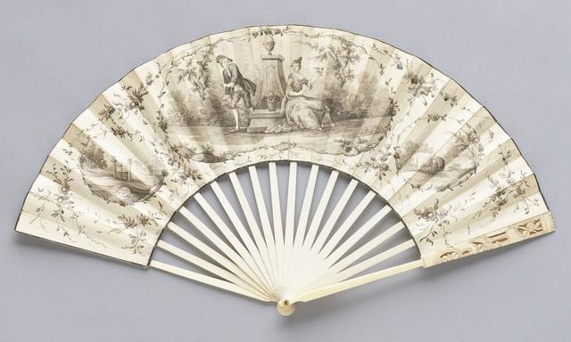 , 'Mourning Fan,' 1760-1770, de Young Museum