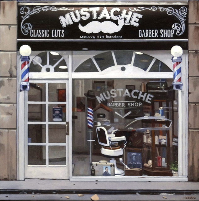 Juan Luis Jardi, 'Mustache Barber Shop ', 2019, Wally Workman Gallery