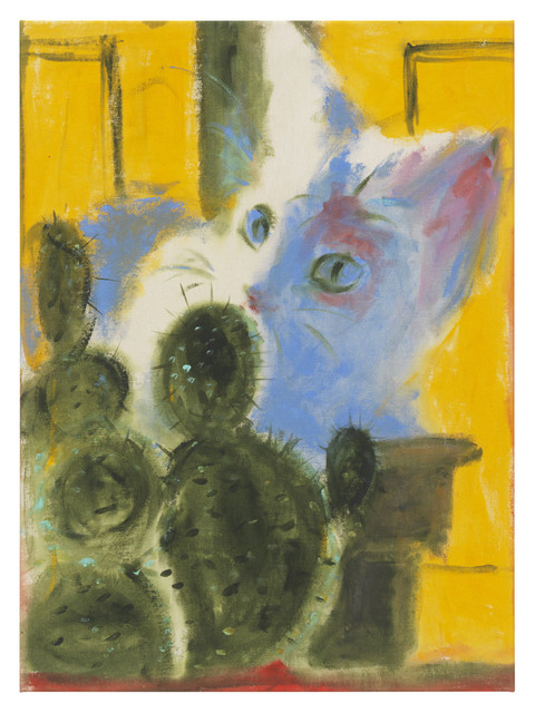 , 'Cat and cactus (yellow),' 2018, DITTRICH & SCHLECHTRIEM